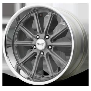 American Racing Custom Wheels VN507 Rodder 5 Vintage Silver w/ Diamond Cut Lip