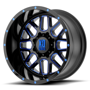 XD Series by KMC XD820 Grenade 8 Satin Black Milled w/ Blue Tinted Clear Coat