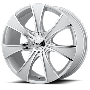 Helo Wheels HE874 5 Dark Silver w/ Machined Face