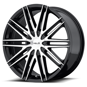 Helo Wheels HE880 5 Gloss Black w/ Machined Face