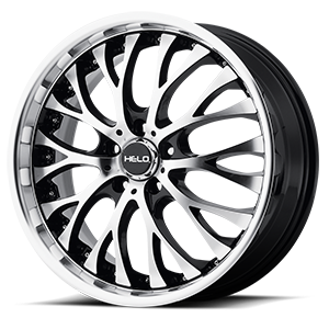 Helo Wheels HE890 5 Gloss Black w/ Machined Face