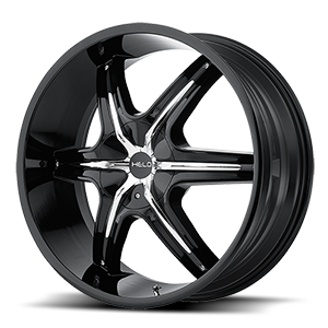 Helo Wheels HE891 5 Gloss Black w/ Gloss Black and Chrome Accents