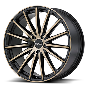 Helo Wheels HE894 5 Satin Black w/ Dark Tint Clear Coat