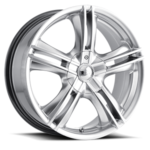 Ion Alloy Wheels 161 4 Hyper Silver Machined