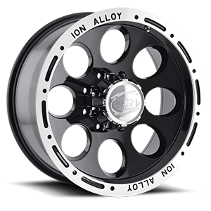 Ion Alloy Wheels 174 8 Black Machined