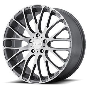 KMC Wheels KM693 Maze 5 Pearl Gray w/ Brushed Face