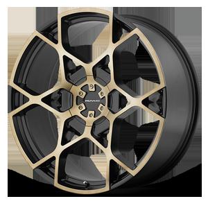 KMC Wheels KM695 Crosshair 5 Satin Black w/ Machined Dark Tint Face