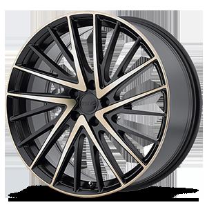 KMC Wheels KM697 Newton 5 Satin Black w/ Machined Dark Tint Face