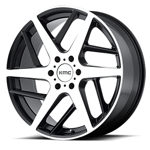 KMC Wheels KM699 Two Face 6 Satin Black w/ Machined Face