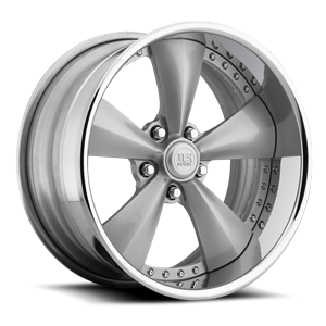Magnum SE - U746 Gloss Silver w/ Chrome Lip | Raw Inner 5 lug
