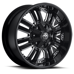 Mayhem Wheels Assault 6 Black with Chrome Inserts