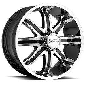 Milanni Wheels 446 Kool Whip 8 8 Gloss Black with Machine Face and Lip