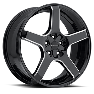 Milanni Wheels 464 VK-1 5 Gloss Black Milled Spokes