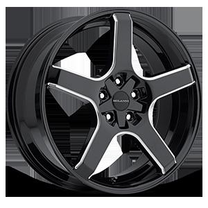 Milanni Wheels 464 VK-1 5 Gloss Black Milled Spokes