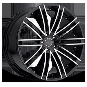 Milanni Wheels 9032 Khan 5 Gloss Black Mirror Machined Face