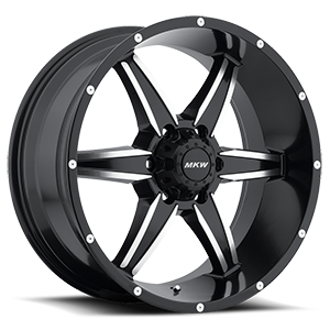 MKW Offroad M89 6 Satin Black Machined Face