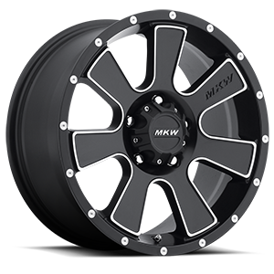 MKW Offroad M90 5 Satin Black Machined Face