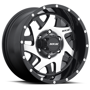 MKW Offroad M91 6 Gloss Black Machined Face