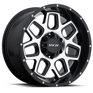 MKW Offroad M92 6 Satin Black Machined Face