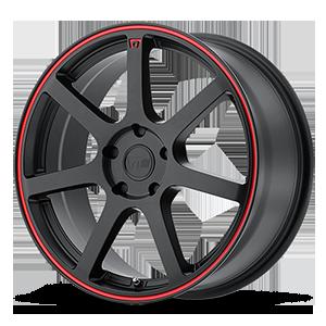 Motegi Racing MR132 5 Matte Black w/ Red Stripe
