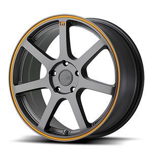 Motegi Racing MR132 5 Matte Grey w/ Orange Stripe
