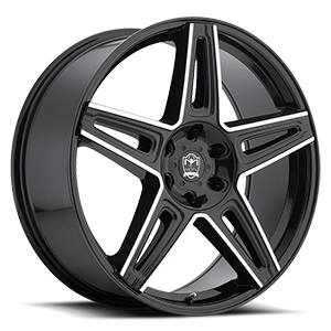 Motiv Luxury Wheels 415 Mythic 6 Black Machined