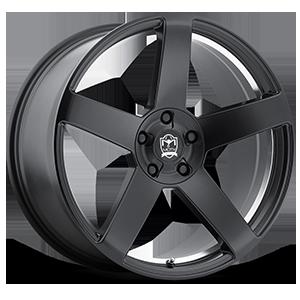 Motiv Luxury Wheels 416 Monterey 5 Satin Black with Mirror Machined Undercut