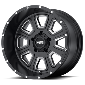 Moto Metal MO972 5 Satin Black w/ Milled Spokes & Flange