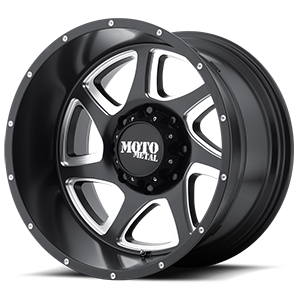 Moto Metal MO976 8 Satin Black Milled