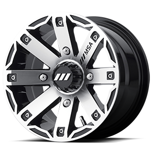MSA Offroad Wheels M27 Rage 4 Machined Gloss Black