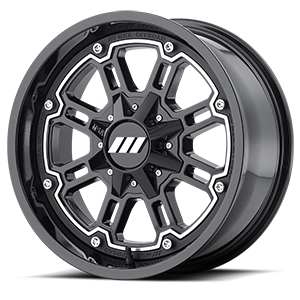 MSA Offroad Wheels M30 Throttle 4 Gloss Black Machined