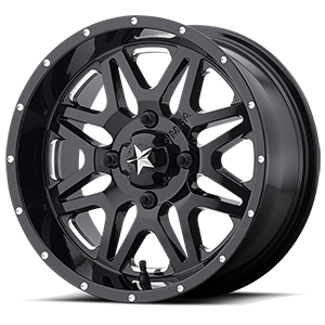 MSA Offroad Wheels M26 Vibe 4 Gloss Black & Milled
