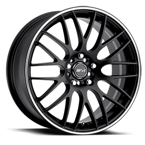 MSR Wheels 045 5 Black with Superfinished Stripe