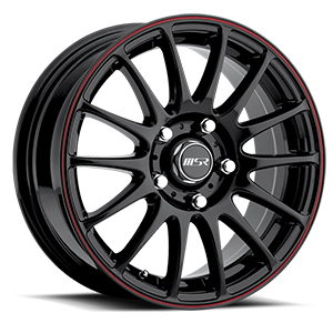 MSR Wheels 068 5 Gloss Black w/ Red Pin Stripe