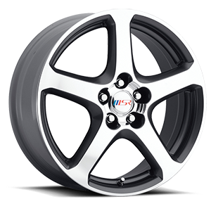 MSR Wheels 080 5 Superfinish with Silver Trim