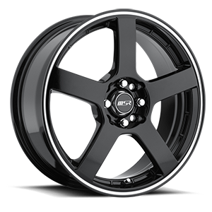 MSR Wheels 091 4 Black with Superfinished Stripe
