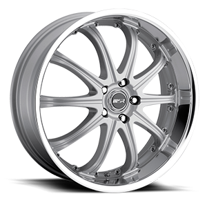 MSR Wheels 096 5 Superfinish with Silver Center