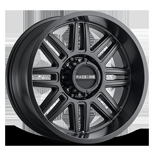 Raceline Wheels 948 Split 8 Matte Black