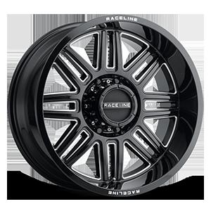 Raceline Wheels 948 Split 8 Gloss Black Milled