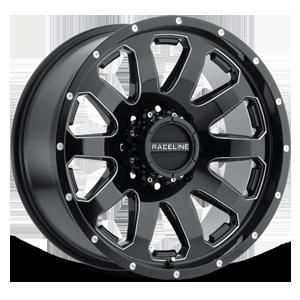 Raceline Wheels 938 Enforcer 8 Black Milled