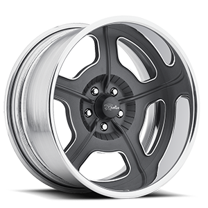 Raceline Wheels Fugitive 5 Gunmetal with Chrome Lip