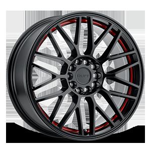 Ruff Racing Overdrive 5 Gloss Black w/ Red Inner Lip