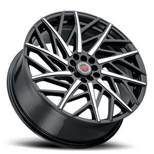 R21 Black Machined 5 lug