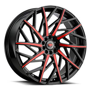 R21 Black/Red 5 lug