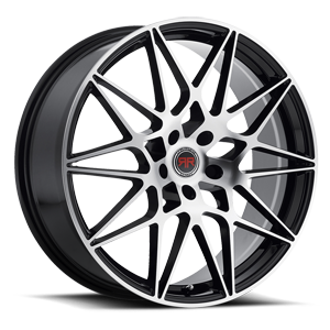 R11 Black Machined 5 lug