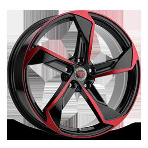 R20 Black/Red 5 lug