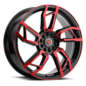R22 Black/Red 5 lug
