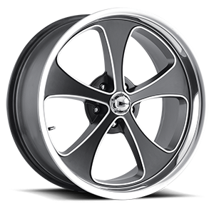 Ridler Wheels 645 5 Matte Black Machined