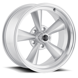 Ridler Wheels 675 5 Silver Machined