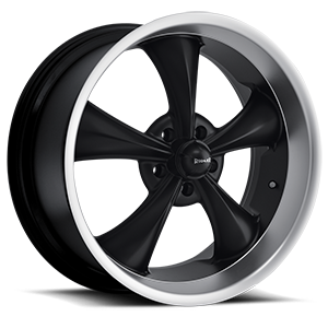 Ridler Wheels 695 5 Black with Machined Lip